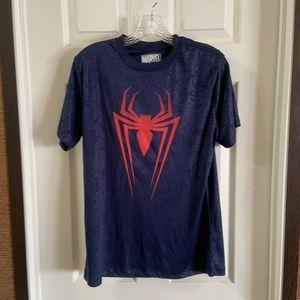 Marvel Blue/Red Spider Man Spider Graphic Shirt S